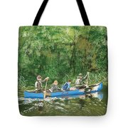 Canoeing With Grandpa Tote Bag