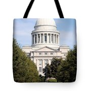 Capitol Building In Little Rock Tote Bag