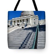 Capitol Hill Building In Washington Dc Tote Bag