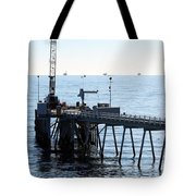 Carpinteria Pier Tote Bag