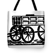 Cart, 19th Century Tote Bag