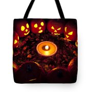 Carved Pumpkins With Pumpkin Pie Tote Bag