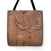 Carved Wooden Door Of The Tsminda Sameba Cathedral Tote Bag