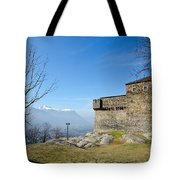 Castle And Trees Tote Bag