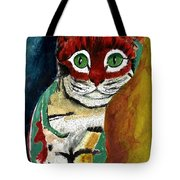 Cat Around Corner Tote Bag