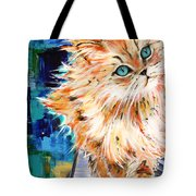 Cat Orange Tote Bag