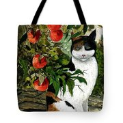 Cat On The Patio Tote Bag