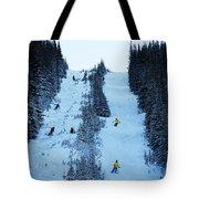 Cat Skiing At Fortress Mountain Tote Bag