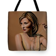 Cate Blanchett Painting  Tote Bag by Paul Meijering