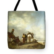 Seashore With Fishwives Offering Fish Tote Bag