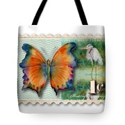 1 Cent Butterfly Stamp Tote Bag