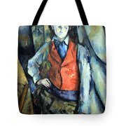Cezanne's Boy In Red Waistcoat Tote Bag