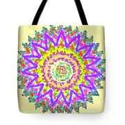Chakra Energy  Mandala Ancient Healing Meditation Tool Stained Glass Pixels  Live Spinning Wheel  Tote Bag