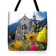 Chamonix Church Tote Bag