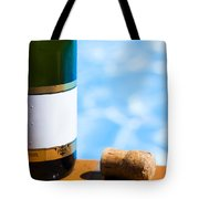 Champagne Bottle And Cork Tote Bag