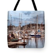 Charleston Marina Fishing Boats Tote Bag