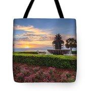 Charleston Sc Waterfront Pineapple Fountain Tote Bag
