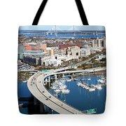 Charleston Waterfront And Marina South Carolina Tote Bag