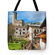 Chatelard Village With Castle Tote Bag