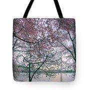 Cherry Blossom Trees Tote Bag
