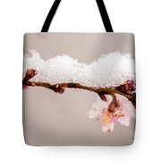 Cherryblossom With Snow Tote Bag