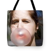Chewing Gum Lady Tote Bag