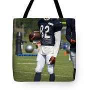 Chicago Bears Wr Chris Williams Training Camp 2014 01b Bw Tote Bag