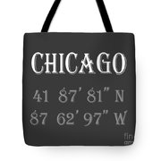 Chicago Coordinates Tote Bag