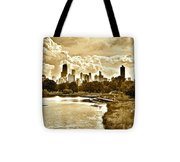 Chicago In Sepia Tote Bag