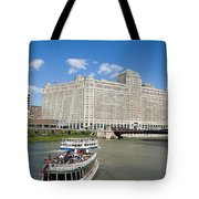 Chicago River Bend Tote Bag