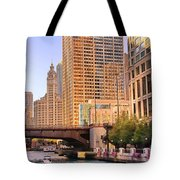 Chicago River Reflections Tote Bag