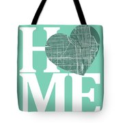 Chicago Street Map Home Heart - Chicago Illinois Road Map In A H Tote Bag