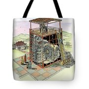 Chinese Astronomical Clocktower Built Tote Bag