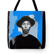 Chinese Man In Traditional Dress Circa 1882 Collage Tucson Arizona 1882-2013 Tote Bag