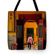 Chinese Temple In Ho Chi Minh Vietnam Tote Bag