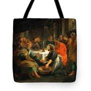 Christ Washing The Apostles' Feet Tote Bag