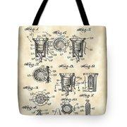 Christmas Bulb Socket Patent 1936 - Vintage Tote Bag