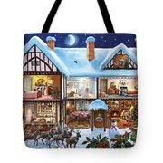 Christmas House Tote Bag