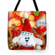 Christmas Puppy Tote Bag