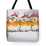 Christmas Robins  Tote Bag