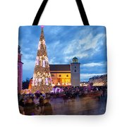 Christmas Time In Warsaw Tote Bag