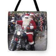 Christmas Toys For Tots Santa On Motorcycle Casa Grande Arizona 2004 Tote Bag