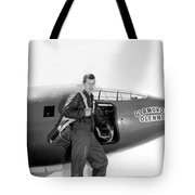 Chuck Yeager And Bell X-1 Tote Bag
