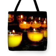 Church Candles Tote Bag