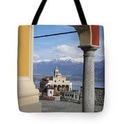 Church Madonna Del Sasso Tote Bag