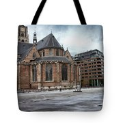 Church Of St Lawrence In Rotterdam Tote Bag