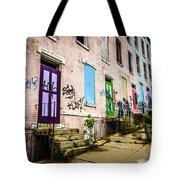Cincinnati Glencoe-auburn Row Houses Picture Tote Bag