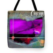 Cincinnati Ohio Map Watercolor Tote Bag