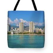 City At The Waterfront, Waikiki Tote Bag