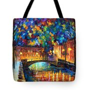 City Bridge Tote Bag by Leonid Afremov